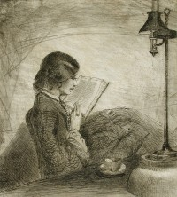 A Lady Reading by Sir Francis Seymour Haden