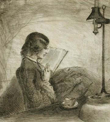 A Lady Reading by Sir Francis Seymour Haden