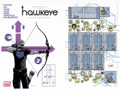 Hawkeye cover by David Aja