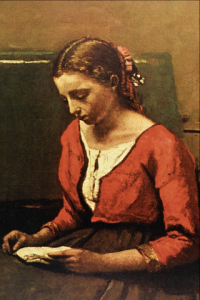 Girl Reading by Jean-Baptiste-Camille Corot.