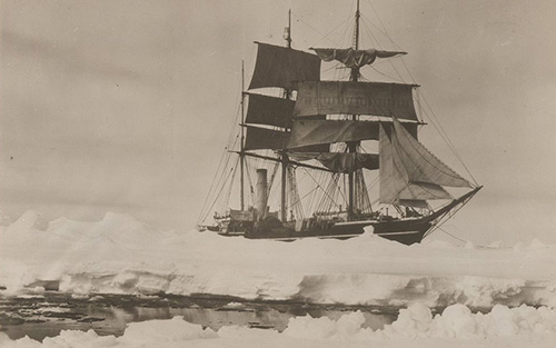 The Terra Nova in 1910, photographed by Herbert Ponting.