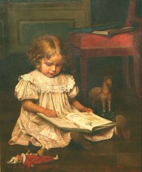 Girl Reading by Emil Brack (1860-1905)