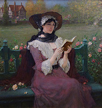 Woman Reading by George Henry Boughton, c. 1900