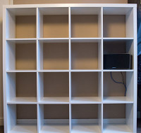 New bookcase - ready and waiting.