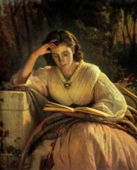 Reading woman (portrait of artist's wife) by Ivan_Kramskoy