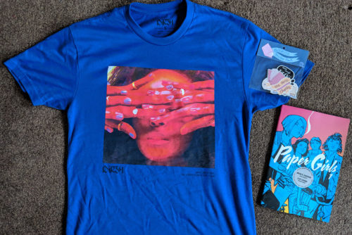 Birthday T-shirt and comic